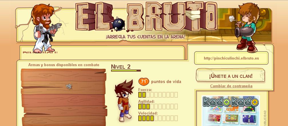 el bruto logo El Bruto: Crea tu propio personaje y pelea en un espacio virtual