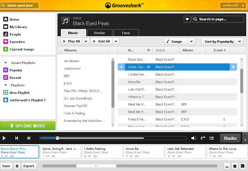 Grooveshark: Escuchar música Online gratis