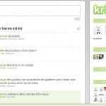 Krikri: Servicio de microblogging para publicar mensajes