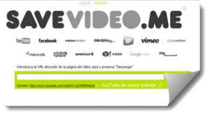 SaveVideo, descargar videos de diferentes portales