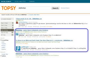 Topsy - buscador en redes sociales, blogs, imágenes y vídeos