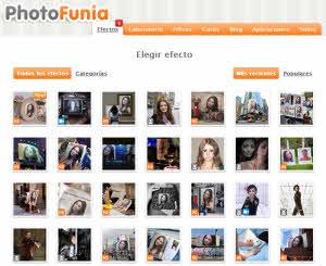 Photofunia es una web en la que vamos a encontrar miles de ideas, marcos para fotos, fotomontajes, tarjetas virtuales y efectos para las fotos.