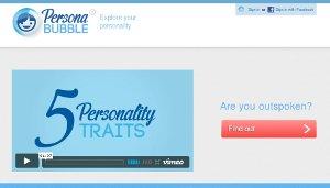PersonaBubble - conoce cuál es tu personalidad
