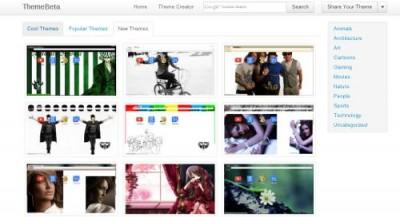 Crea, Comparte y Descarga themes para Google Chrome desde ThemeBeta