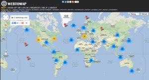 Webtomap - compartir novedades, videos y fotos en un mapa