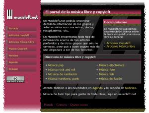 Musicleft - directorio con música de derechos libres