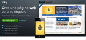 Edicy - la mejor forma de crear un sitio web de negocio