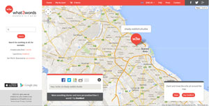 aplicación online para geolocalización usando solo 3 palabras: what3words