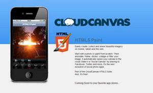 CloudCanvas - aplicación web similar a Photoshop
