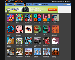 FotoView - aplicar efectos y filtros a nuestras fotos online