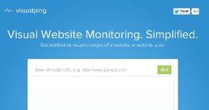 VisualPing - recibir avisos de cuando un sitio web hace cambios