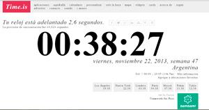 Time.is - qué hora es en otros países del mundo