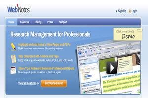 WebNotes, marcador online para organizar nuestra actividad en la web