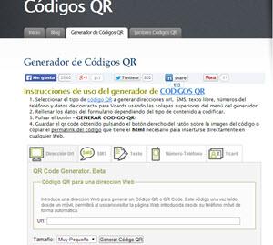 Códigos QR, lector y generador de códigos QR desde la web