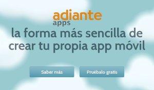 Adianteapps es un servicio online para crear aplicaciones para Android sin saber programar, sin necesidad de escribir código.