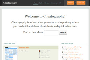 Cheatography, crear cheat sheet de forma fácil y profesional