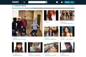 Keek - red social para compartir videos y fotos con amigos