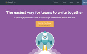 Beegit - editor de textos online de formato Markdown