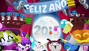 Cuteki - Postales animadas de Año Nuevo 2015