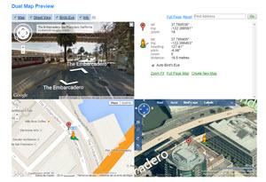 Dual Maps - plataforma para consultar diferentes servicios de mapas online