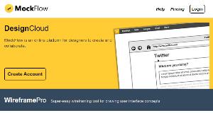 MockFlow - aplicación online para crear wireframing